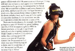 Flashes from the Annals of VR