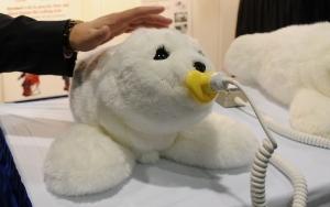 Paro therapeutic companion robot seal